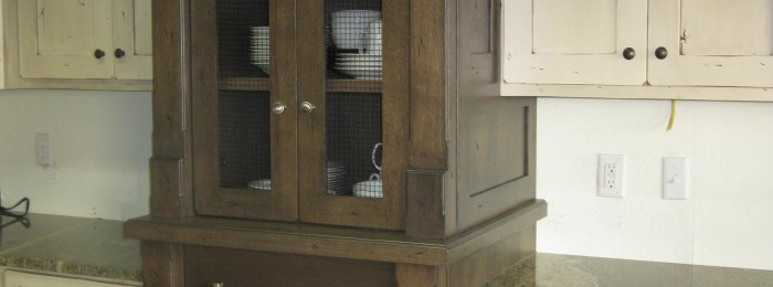 Remodel Progress: The Chicken Wire Cabinet