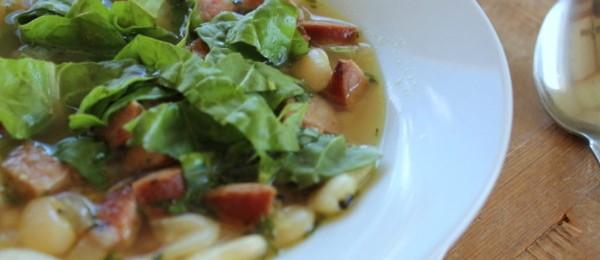 Sausage Bean and Swiss Chard Soup