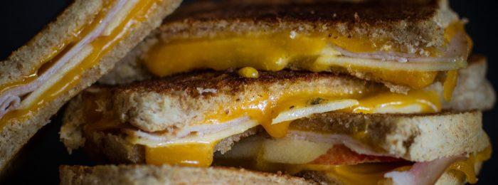 Melted Turkey Apple Cheese Sandwich